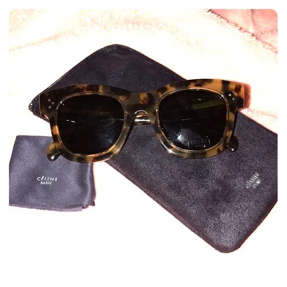 70a97686e627 Celine Accessories - Celine wayfarer leopard print sunglasses